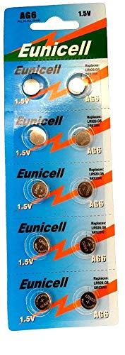 AG6 Alkaline Knopfzellen (G6 / LR69 / LR921 / SR921W / 370 / 371), 10 Stück