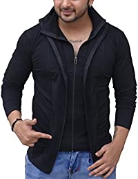 Black Collection Men's Full-Zip Cotton T-Shirt