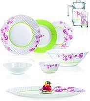 Luminarc Dinnerware Sets,Glass,Multi Color,80PSC, N7744