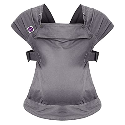 Izmi Baby Carrier (3.2kg-15kg), New Born Carrier, Multiple Carrying Positions, Mid Grey  Wickelkinder