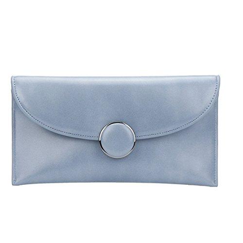 Il Nuovo Sacchetto Della Busta Moda Fibbia Rotonda Frizione Catena Spalla Diagonale Personalità Borse Blue