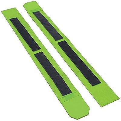 2 Stück Reflexband Sicherheitsband Leuchtband Reflektorband Armbinde neon joggen laufen Sport