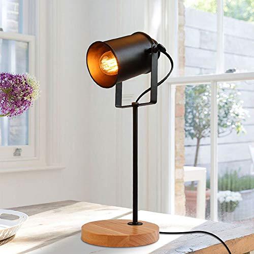Amerikanische Tischlampe ASCELINA Vintage Loft Holz Led Schreibtischlampe Einstellbare Leselampe Büro Lampe Wohnraumbeleuchtung Dekor Läden