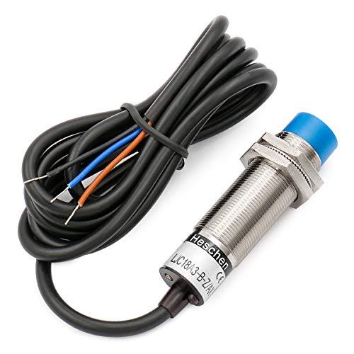 Heschen LJC18A3-B-Z/AX Kapazitiver Näherungsschalter, Detektor, 1-10mm, 6-36V Gleichstrom, 300mA, npn, normalerweise geschlossen, 3 Adern