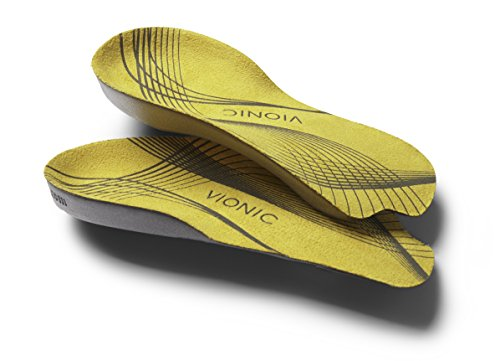 Vionic <p><b>Vionic Unisex 3/4 Orthotic</b></p><p>Developed by Philip J Vasyli - an internationally renowned podiatrist and inventor of class leading biomechanical orthotics and orthotic footwear.</p><p>Full length design with patented lateral cutaway that takes up less room - making it ideal for all types of regular mens and womens (low heeled) footwear.</p><br><ul><li>Shock dot in the heel for added shock absorption.<br><p><b>30 Day Guarantee.<b><br>Effective natural relief for many of the common aches and pains associated with poor lower limb alignment such as heel pain (including plantar fasciitis), knee pain, lower back pain and tired aching legs.</p><p><b>Heel Pain</b><br>As the foot pronates, the arch collapses and its ligaments stretch and elongate. Vionic orthotics help to realign the foot, reducing forces on the ligaments that cause this pain.</p><p><b>Knee Pain</b><br>When the foot rolls over, the lower leg internally rotates, putting forced on the knee cap and weakening the muscle structures, causing knee pain. Vionic Orthotics help to reduce rotation of the leg and this every cause of knee pain.</p><p><b>Back Pain </b><br>As the feet roll over and internally rotate, the pelvis is forced forward increasing lower back pain curvature and causing tightness and stiffness in those muscles. Vionic orthotics help align body posture, thereby easing lower back pain.</p><p><b> Aching Legs</b><br>When the feet roll over and the legs rotate internally, the leg muscles become stressed, leading to tired aching legs. Vionic orthotics decrease rotation of the leg and traction of the calf muscles.</p>,  Giallo giallo