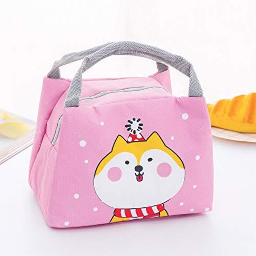 Jaminy Leicht Lunch Tasche Isoliertasche Lunchtasche Leichte Wasserdicht Picknicktasche Mittagessen Isoliertasche Thermotasche (Rosa)
