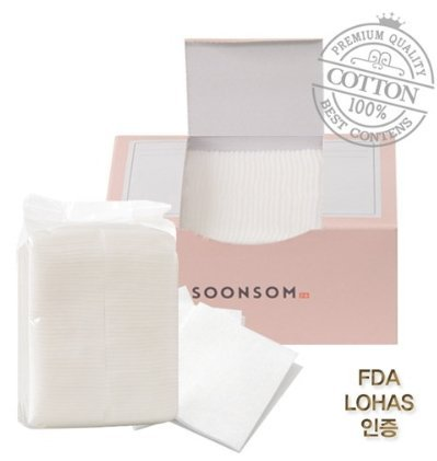 Pore Cleansing Wipes (SoonSom Korea - Premium Water Jet Cotton Pads with Nonwoven cotton 100pc)