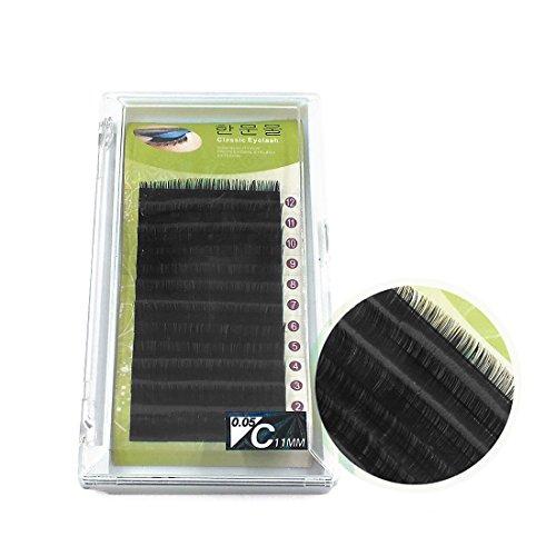 sourcingmap 12pcs 11mm Long Noir faux cils naturels cosmétique Extension Outil