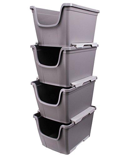 Ondis24 4X Aufbewahrungsbox Lagerbox Allzweckbox Sichtbox Multi Wow stapelbar & nestbar
