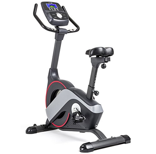 Hop-Sport Heimtrainer iConsole+ Fitnessbike, Bluetooth, Ergo Fitness Bike, Fahrradtrainer, 14kg Schwungmasse, Pulsmessung, LED 11Zoll Display, Belastbar bis 150kg