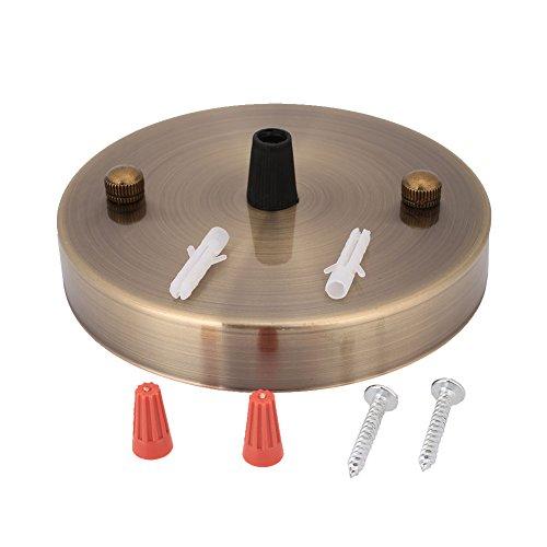 Decken-baldachin Kit (Gladle Decken-Baldachin Wall Sconce Mount LED-Weinlese-hängende helle Scheibensockel 120mm (Grüne Bronze))