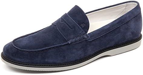 D2456 mocassino uomo HOGAN CLUB GUARDALO L blu loafer shoe man