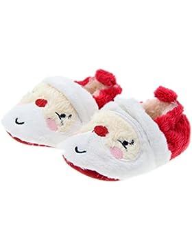 Primi Toddler Infant Baby Santa Claus Soft Sole zapatos de Prewalker de Navidad 11cm