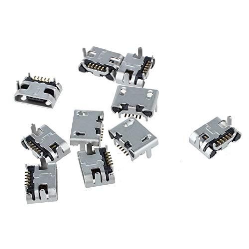 CDKJ 10Pcs Typ B Micro-USB-Buchse 5 Pin-Buchse Anschluss-Buchse Adapter Solder Port-Anschluss Ersatzteile für Handy-PCB SMT