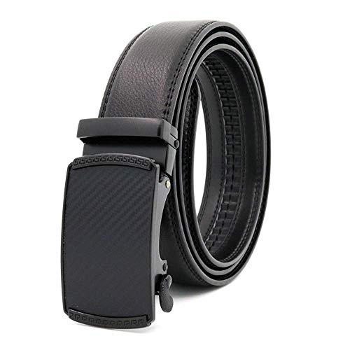 aoliaoyudonggha Men's Cow Leather Automatic Belts Alloy Buckle -