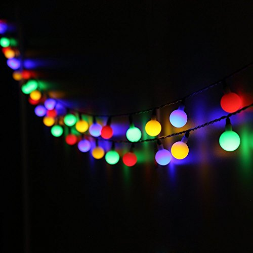 BlueFire LED Ball String Lights with Flashing 31ft 50 LEDs ...