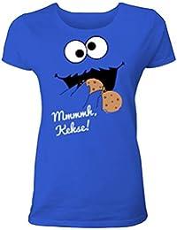 Lustiges Keks Monster T-Shirt für Frauen und Männer - als Herren oder Damen Shirt