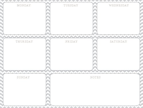 chevron-grey-magnetic-weekly-planner