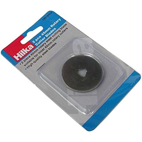 Hilka 7351645245mm Rotary cutter lame–Nero