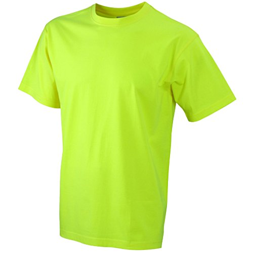 JAMES & NICHOLSON Komfort-T-Shirt aus strapazierfähigem Single-Jersey Yellow