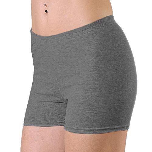 Alkato Damen Shorts Hotpants Blickdicht Stretch, Farbe: Melange/Graphit, Größe: 40