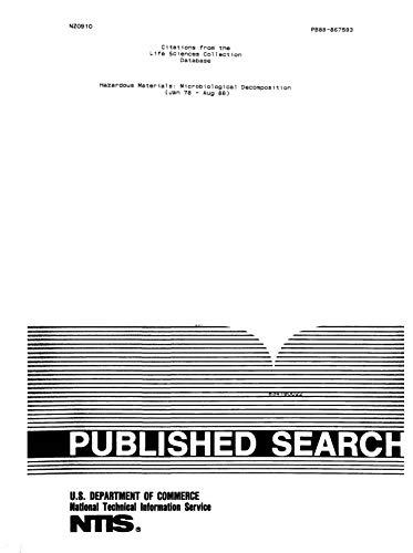Hazardous Materials: Microbiological Decomposition (Jan 78 - Aug ...