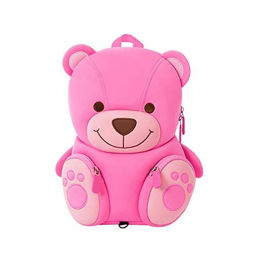 Carino bambini personalizzati rosa orso Mini Cartoon bambini animali zaino ragazze, borse zaino bambino per 2-6 anni bambine regali per asilo nido asilo nido scuola materna all'aperto con redini