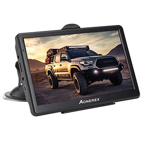 Aonerex Navigationsgerät 7 Zoll GPS Navi Navigation Resistivem Display Navigationssystem Mehrsprachig für Auto LKW PKW KFZ 8GB/256MB Lebenslange Kartenupdates 52 Karten für Europa UK