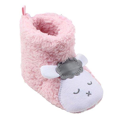 Baby Casual Stiefel Bootie Hausschuhe - hibote Kleinkind Weiche Sohle Stiefel Prewalker Schuhe Warme Anti-Rutsch Hausschuhe Krippeschuhe (Walker Leben Schuhe)