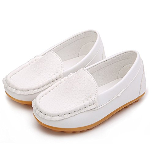 TMEOG Loafer Flats, Casual Kid Boy's Girl's Dress Slip-On Slip On Moccasin PU Leather Loafers Oxford Shoes