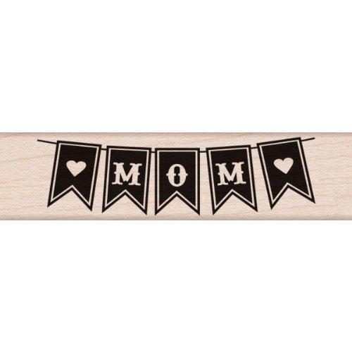 Hero Arts Holz montiert Gummi stmap. 12,7cm x 3-inch-mom Banner -