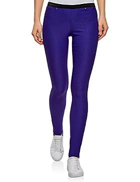 oodji Ultra Mujer Pantalones Stretch con Elástico
