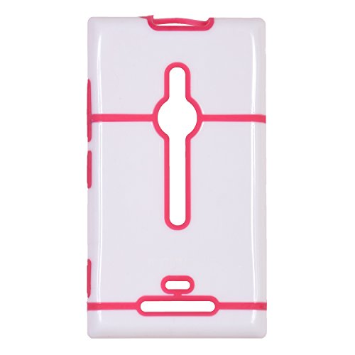 iCandy™ Dual Tone Hard PC Back Cover For Nokia Lumia 925 - Pink  available at amazon for Rs.165