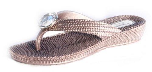 Ubershoes , Sandales pour femme black/brown/coral/navy blue Marron - marron