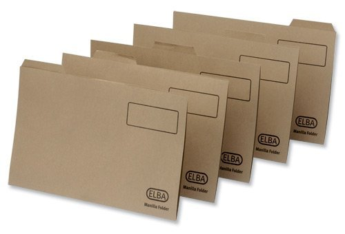 100090124 Elba Economy Einstellmappe (Reiter recycelt Manila, 170 g/m², Folio-Format) 100 Stück, braun