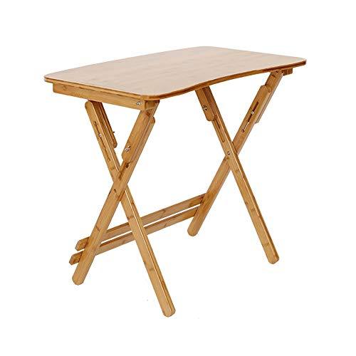 Bambus, Bein, Brust (LiuJianQin Beistelltisch ZXQZ Klapptisch, Schreibtisch, Klappbarer Laptop-Schreibtisch, Höhenverstellbarer Monitorständer, Lazy Klapptisch, Stehpult Teetisch (Size : 70x40cm))