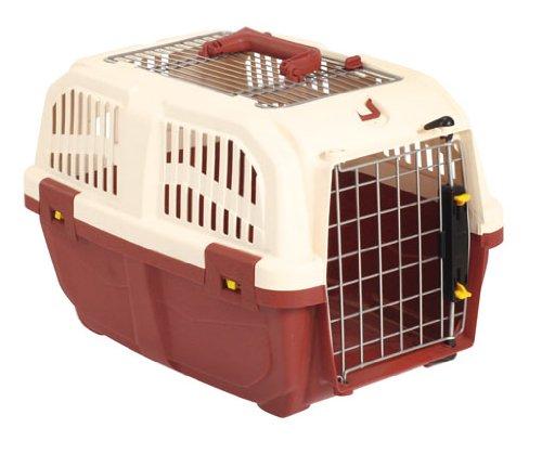 Kerbl 82385 Transportbox Skuda 48 x 31.5 x 31 cm, rot / beige