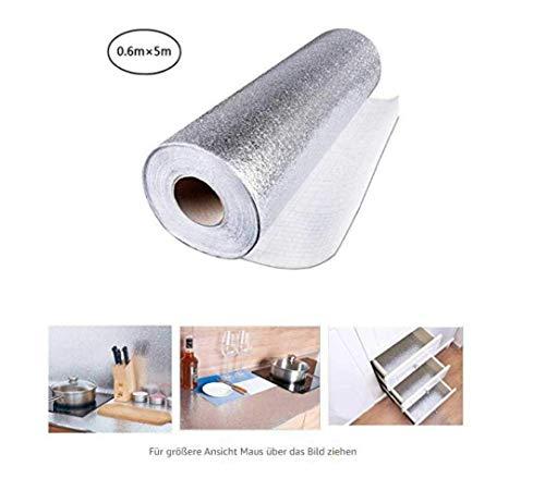 61X500Cm Aufkleber Küche Hohe Qualität Pvc Und Pet Film Selbstklebende Papier Diy Niture Folie Aluminiumfolie Wasserdicht Küche Liefert Tapete...