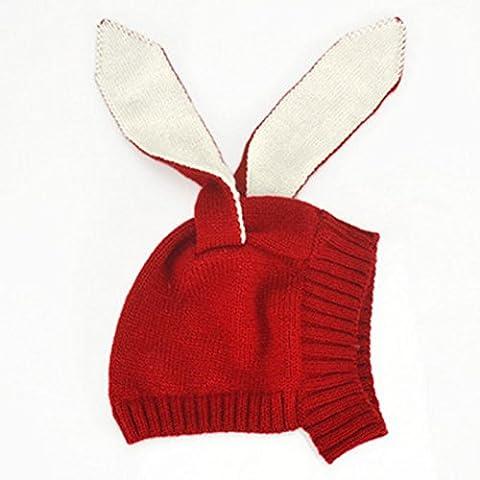 PinzhiHäschen-Kaninchen-Ohr Beanie-Hut-Baby-Kleinkind-Häkelarbeit-Knit-Winter Earflap Kappe (Earflap Knit Cap)