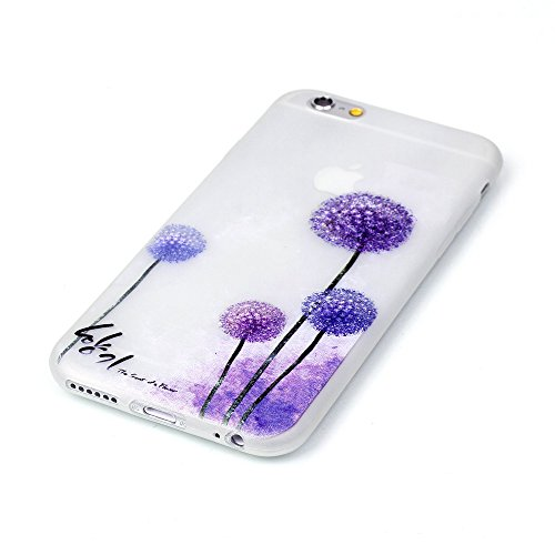Beiuns pour Apple iPhone 5 5G 5S / iPhone SE (4 pouces) Coque en Silicone TPU Housse Luminieuse Coque - YY515 Attrape rêve coloré YY502 Pissenlit violet