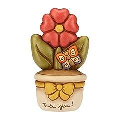 Idea Regalo - Thun Vasetto con primula, ceramica, h 16,7 cm