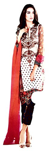 Embroidered Dress Materials for Women Low Price, Suits for Women Latest Design,...