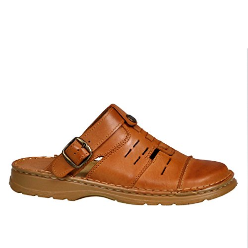 ab0d121aa6e Lukpol Mens Comfortable Natural Buffalo Leather Orthopedic Sandals Shoes  Model-839