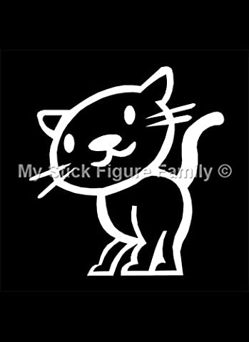 Official My Stick Figure Family Car Window Vinyl Sticker PC4 Happy Cat