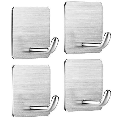 , Aikzik Handtuchhaken Badezimmer Wandhaken Edelstahl Handtuchhalter ohne Bohren für Bad und Küche ()
