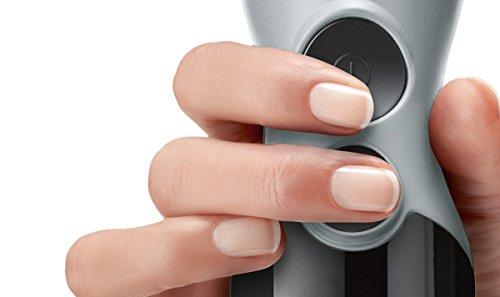 Bosch ErgoMixx MSM67170 - Batidora de mano, 750 W, regulador de velocidad y velocidad Turbo, cúpula con cuatro cuchillas, con picador, varilla batidora y cuchilla para hielo, color negro y gris