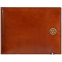 Cartera de Piel Marron St Dupont Line D Money Clip 6 Credit Cards 180101