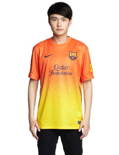 NIKE Herren Trikot FC Barcelona Away Replica Jersey, Safety orange/tour yellow, S, 478326 -