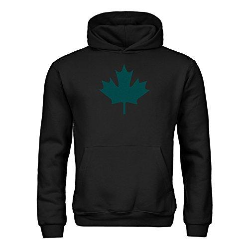 Kapuzensweatshirt Kanada Ahorn 20drpt15-kh00033-80 Textil black / Motiv tuerkis Gr. 152/164 (80 Kostüme Für Kanada)