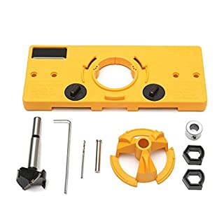 SODIAL 35MM Cup Style Hinge Boring Jig Drill Guide Set Door Hole Template For Kreg Tool